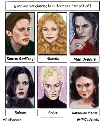 Six Fanarts (of Vampires)